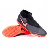 Football Boots Phantom Vision Academy DF Turf Dark grey-Bright mango-Black