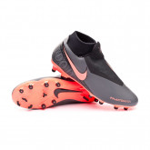 Chuteira Phantom Vision Academy DF MG Dark grey-Bright mango-Black
