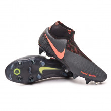 Chuteira Phantom Vision Elite DF Anti-Clog SG-Pro Dark grey-Bright mango-Black