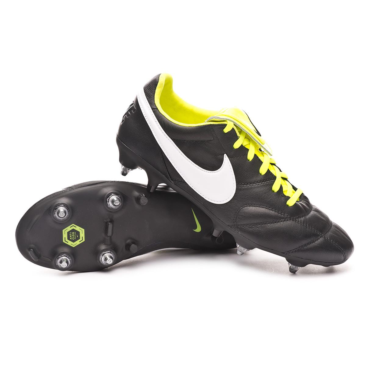 proteger vestir maldición  Football Boots Nike Tiempo Premier II SG-PRO Anti-Clog Traction  Black-White-Volt - Football store Fútbol Emotion