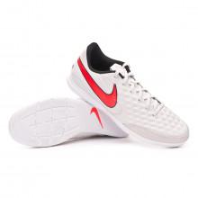 Sapatilha de Futsal Legend VIII Academy IC Platinum tint-Bright crimson-White