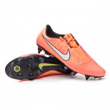 Chuteira Phantom Venom Elite SG-Pro Anti-Clog Traction Bright mango-White-Orange pulse