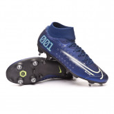 Chuteira Mercurial Superfly VII Academy MDS SG-PRO Anti-Clog Traction Blue void-Barely volt-White-Black