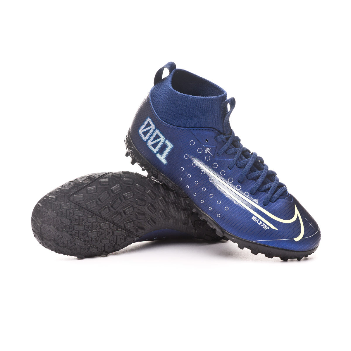 Amigo por correspondencia estilo colegio  Football Boots Nike Kids Mercurial Superfly VII Academy MDS Turf Blue  void-Barely volt-White-Black - Football store Fútbol Emotion