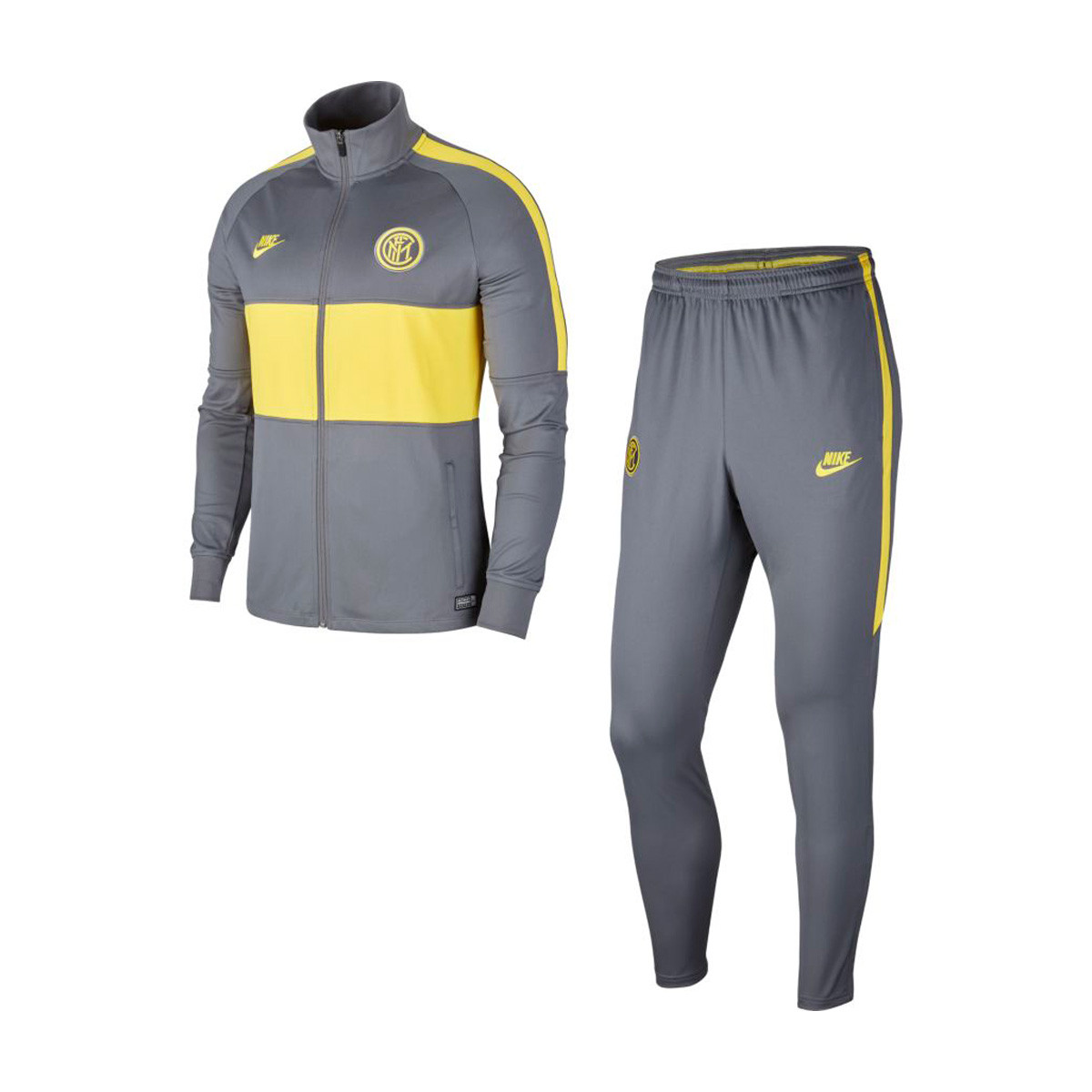 actualizar teléfono Con otras bandas  Tracksuit Nike Inter Milán Dry Strike 2019-2020 Dark grey-Tour yellow -  Football store Fútbol Emotion