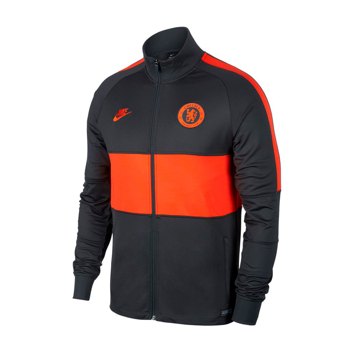 Competitivo Constituir sección  Jacket Nike Chelsea FC Dry Strike 2019-2020 Anthracite-Rush orange ...
