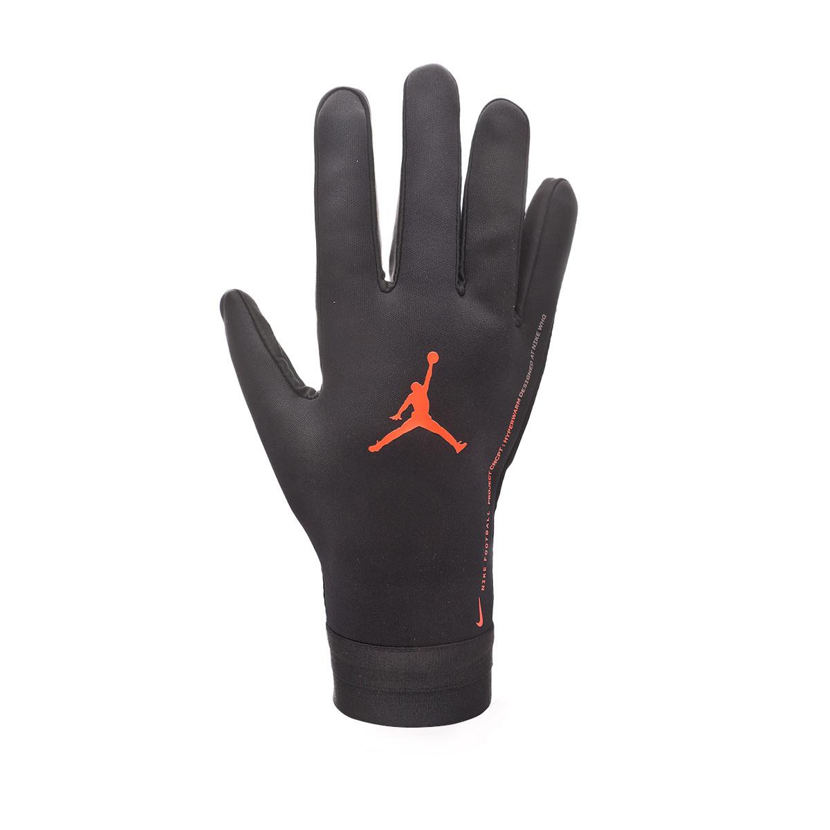 Fracción incompleto celebracion  Glove Nike PSG x Jordan Academy Hyperwarm 2019-2020 Black-Infrared ...