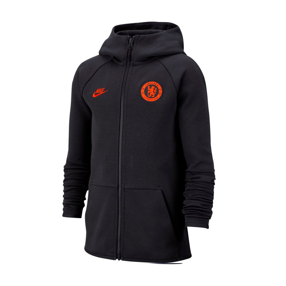 Sweat de football à capuche avec zip Chelsea FC Tech Fleece