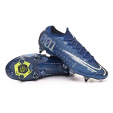 Chuteira Mercurial Vapor XIII Elite MDS SG-PRO Anti-Clog Traction Blue void-Barely volt-White-Black