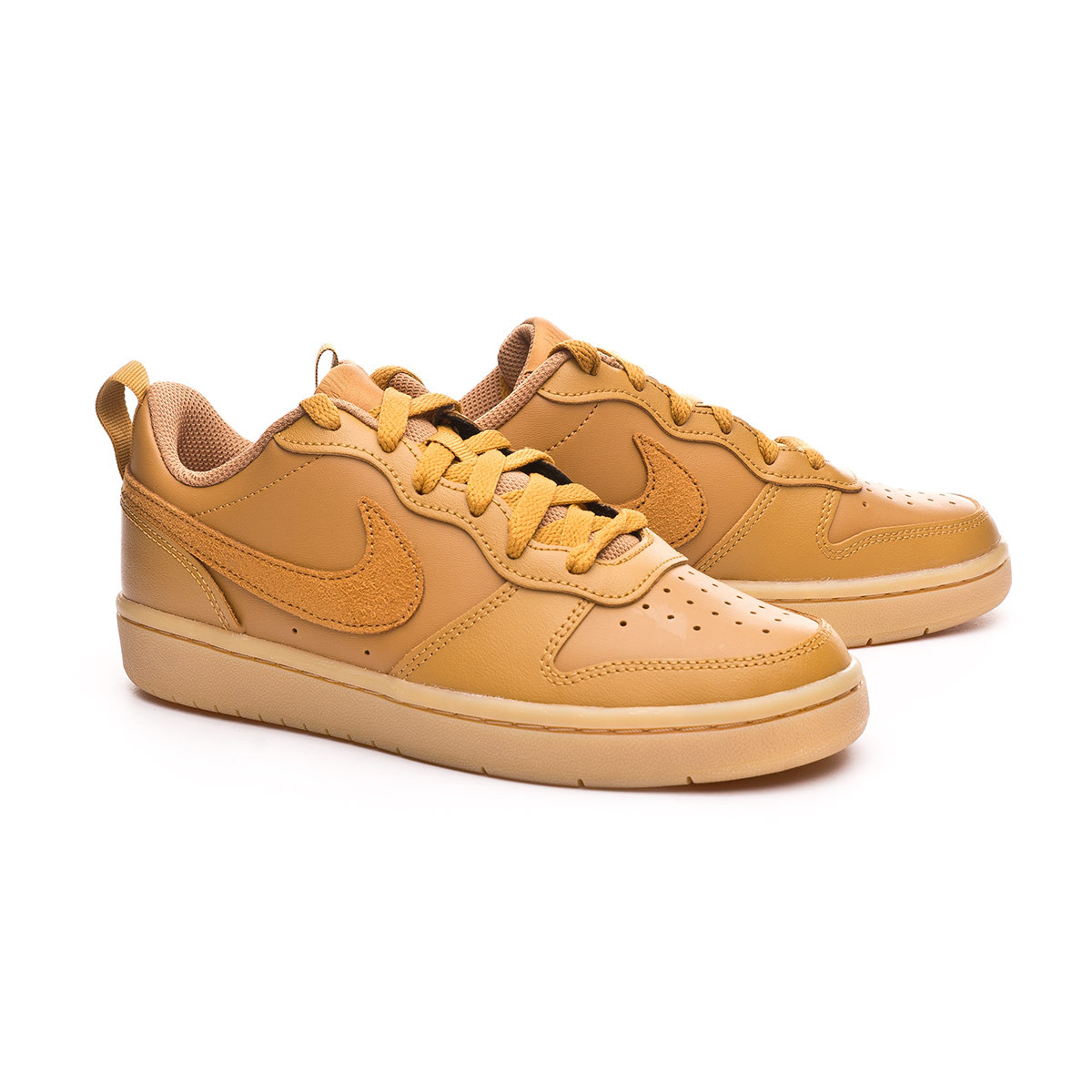 Brote legación Huracán  Trainers Nike Kids Court Borough Low II Wheat-Gum light brown ...