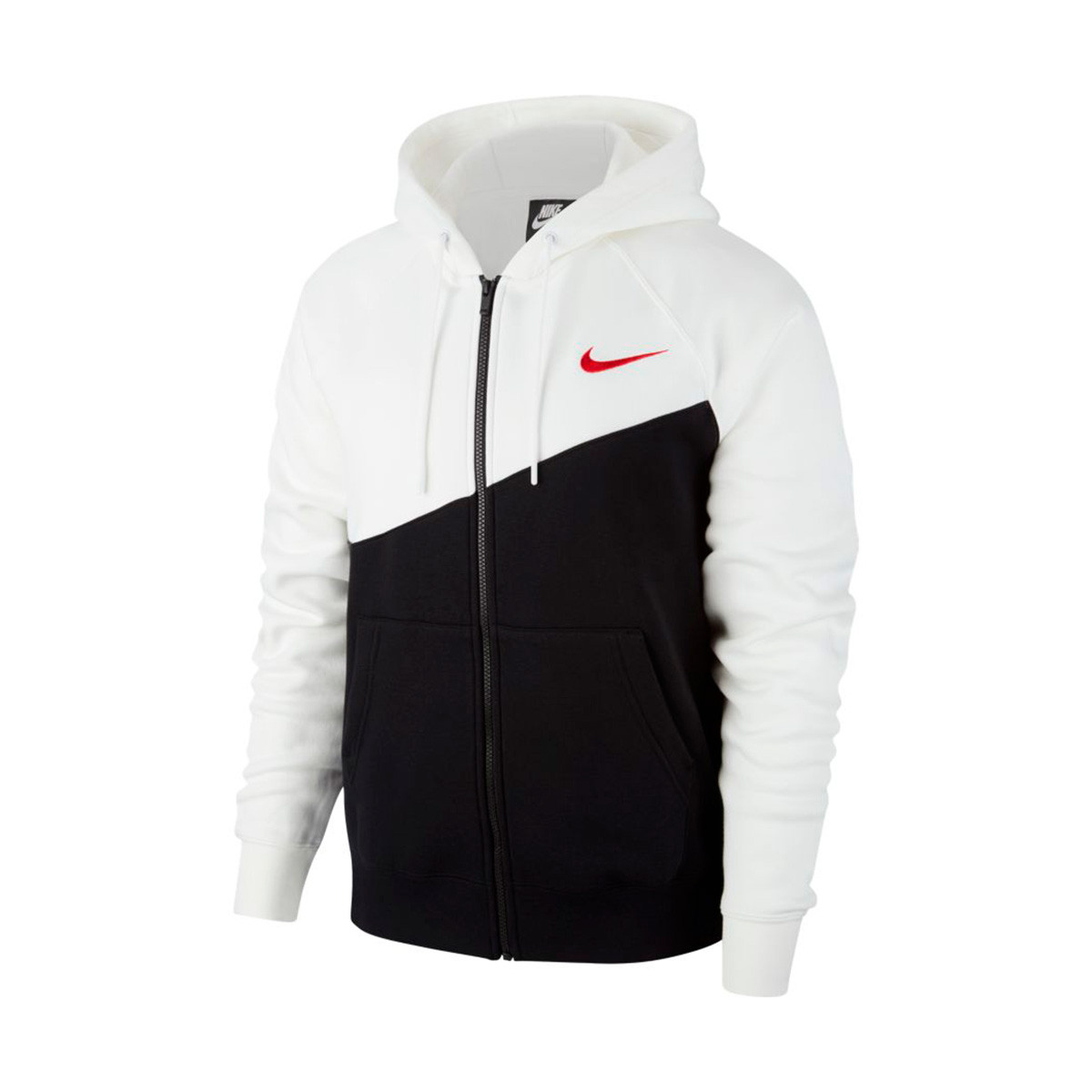 nike hoodie red and black factory 4cc55