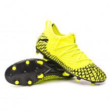 Football Boots Future 4.3 NETFIT FG/AG Yellow alert-Puma black