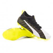 Football Boots One 5.2 FG/AG Puma white-Puma black-Yellow alert