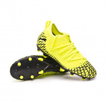 Football Boots Future 4.3 NETFIT FG/AG Niño Yellow alert-Puma black