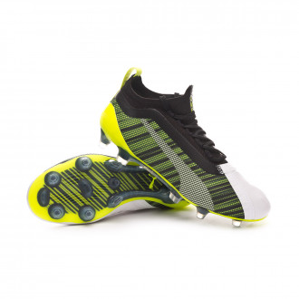 One 5.1 FG/AG Bambino Puma White Puma Black Yellow Alert
