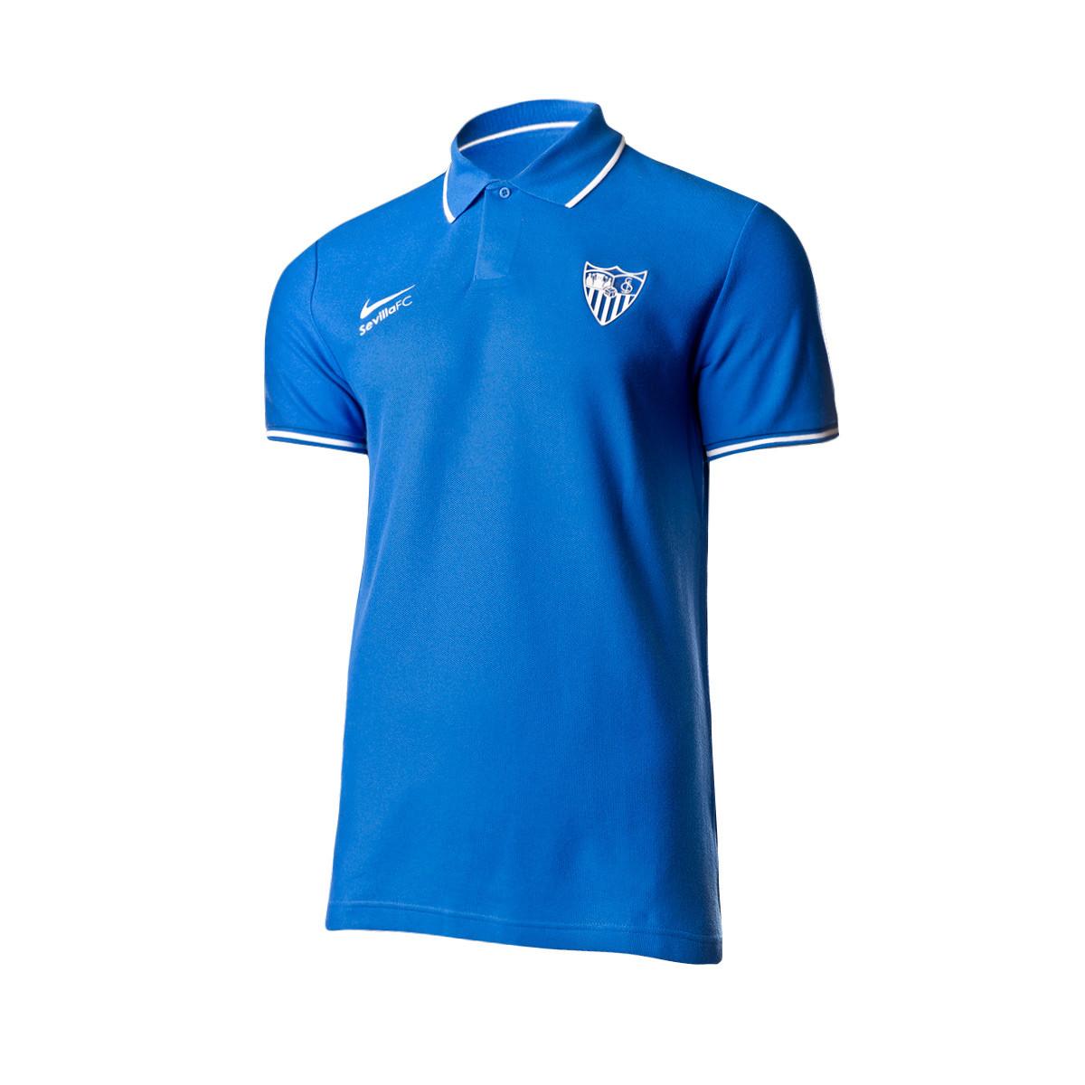envío complementario la mejor calidad para nueva productos Polo shirt Nike Sevilla FC Paseo 2019-2020 Blue - Football store ...