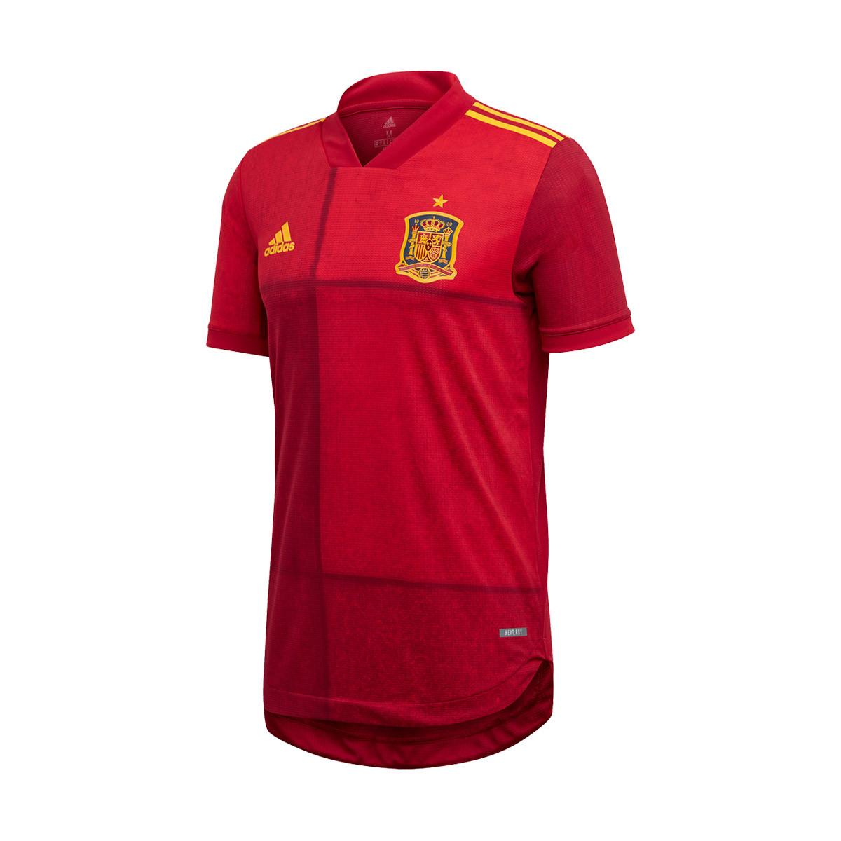 Circular Hablar en voz alta prisión  Camiseta adidas España Primera Equipación Authentic 2019-2020 Victory red -  Tienda de fútbol Fútbol Emotion