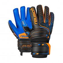 Luvas Attrakt Freegel S1 Finger Support Niño black / shocking orange / deep blue