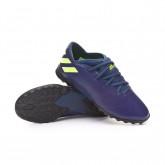 Football Boot NEMEZIZ MESSI 19.3 Turf Niño Tech indigo-Signal green-Glory purple