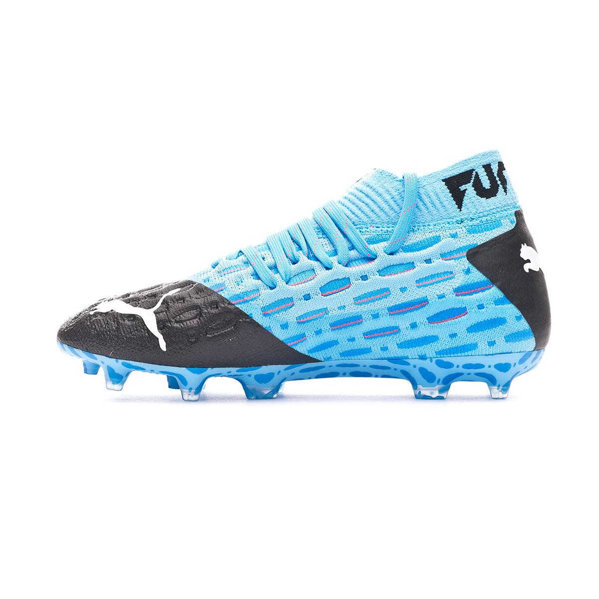 Monje tapa Diplomático  Bota de fútbol Puma Future 5.1 NETFIT FG/AG Niño Luminous Blue ...