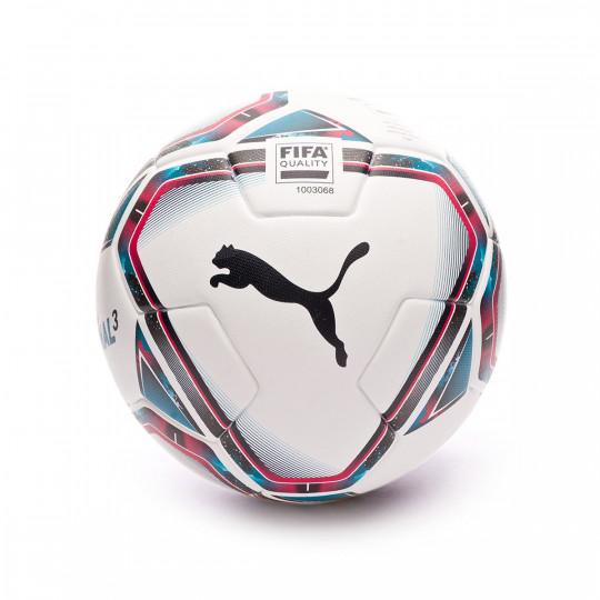Ball Puma TeamFINAL 21.3 FIFA Quality Puma White-Rose Red-Ocean Depths-Puma Black