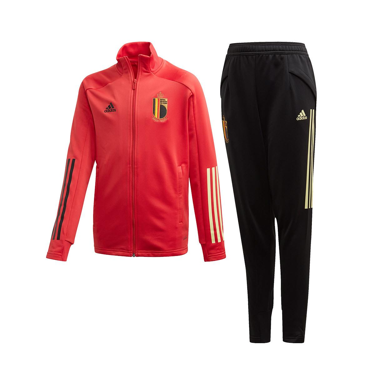 Espesar Oblea estoy de acuerdo con  Chándal adidas Belgica Paseo 2019-2020 Niño Glory red-Black - Tienda de  fútbol Fútbol Emotion