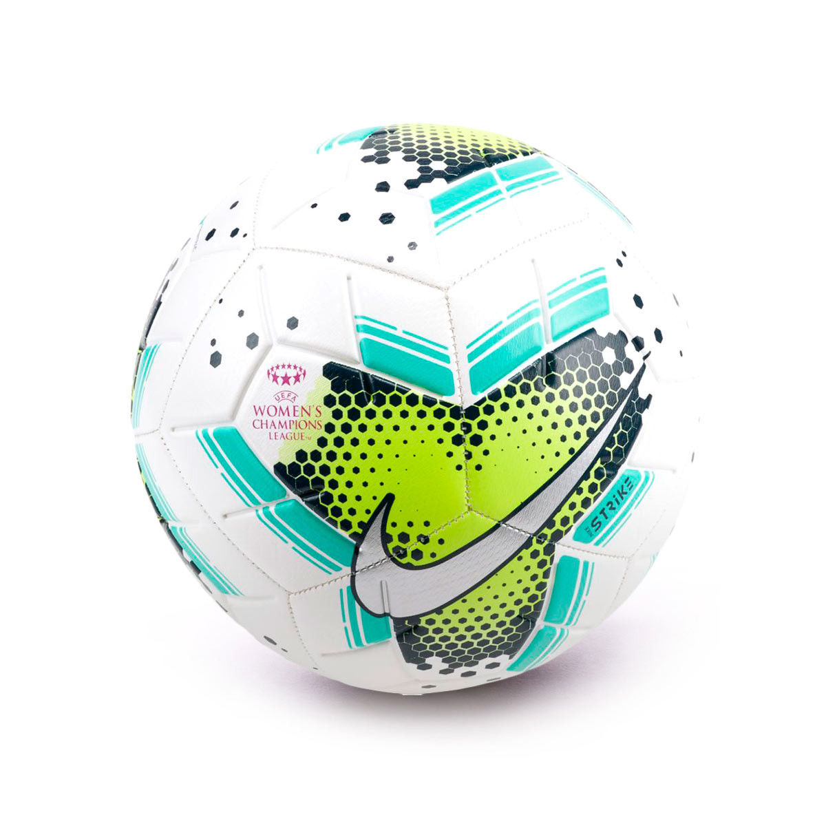 ball nike uefa women s champions league strike 2020 white volt aurora green football store futbol emotion nike uefa women s champions league strike 2020 ball