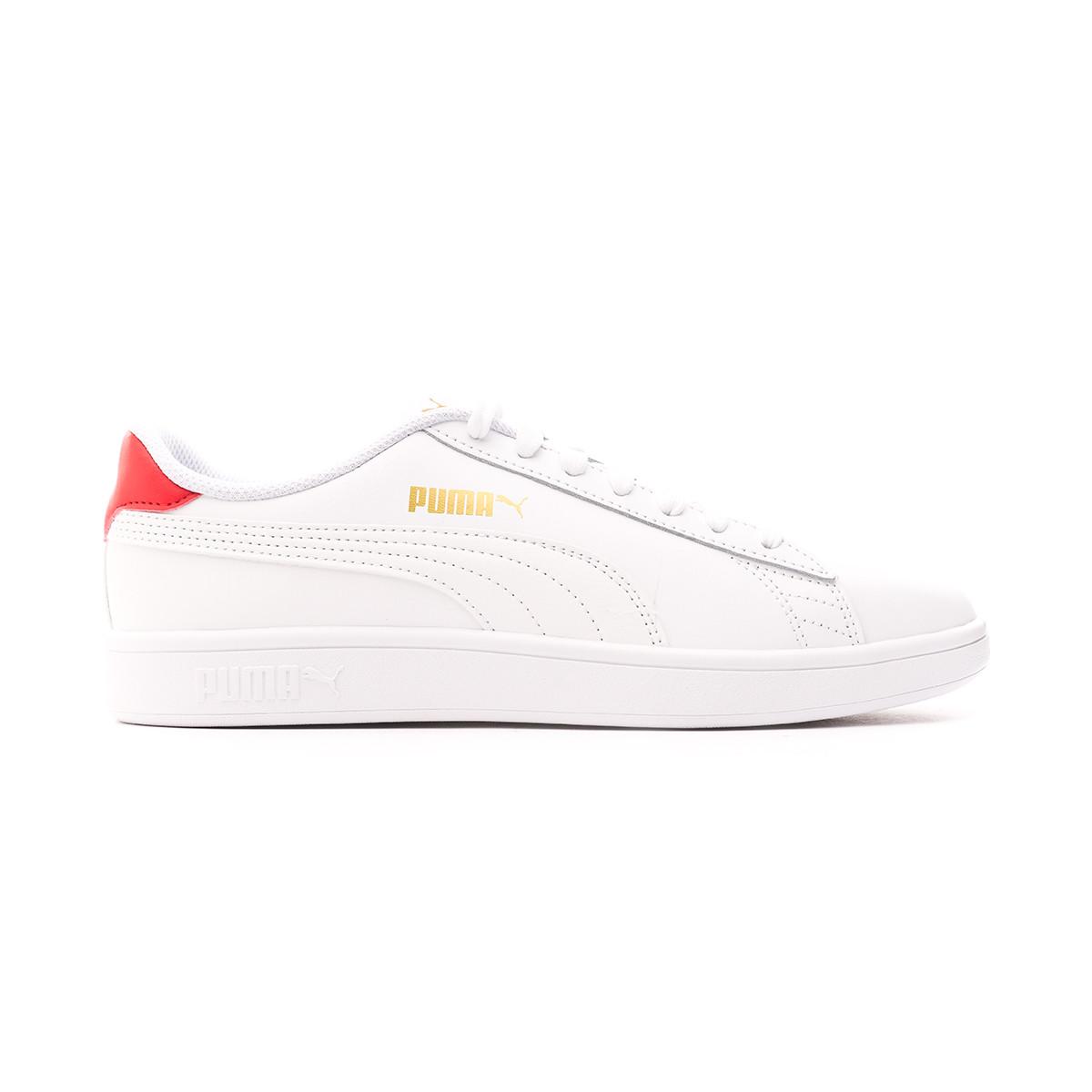puma white gold trainers