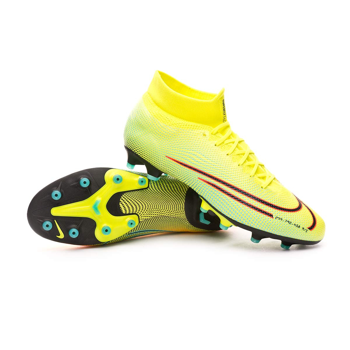 Distinguir dentro Ocultación  Football Boots Nike Mercurial Superfly VII Pro MDS 2 AG-PRO Lemon  venom-Black-Aurora green - Football store Fútbol Emotion