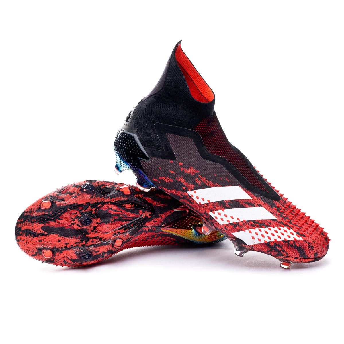 Football Boots adidas Predator 20+ FG Core black-White-Active red ...