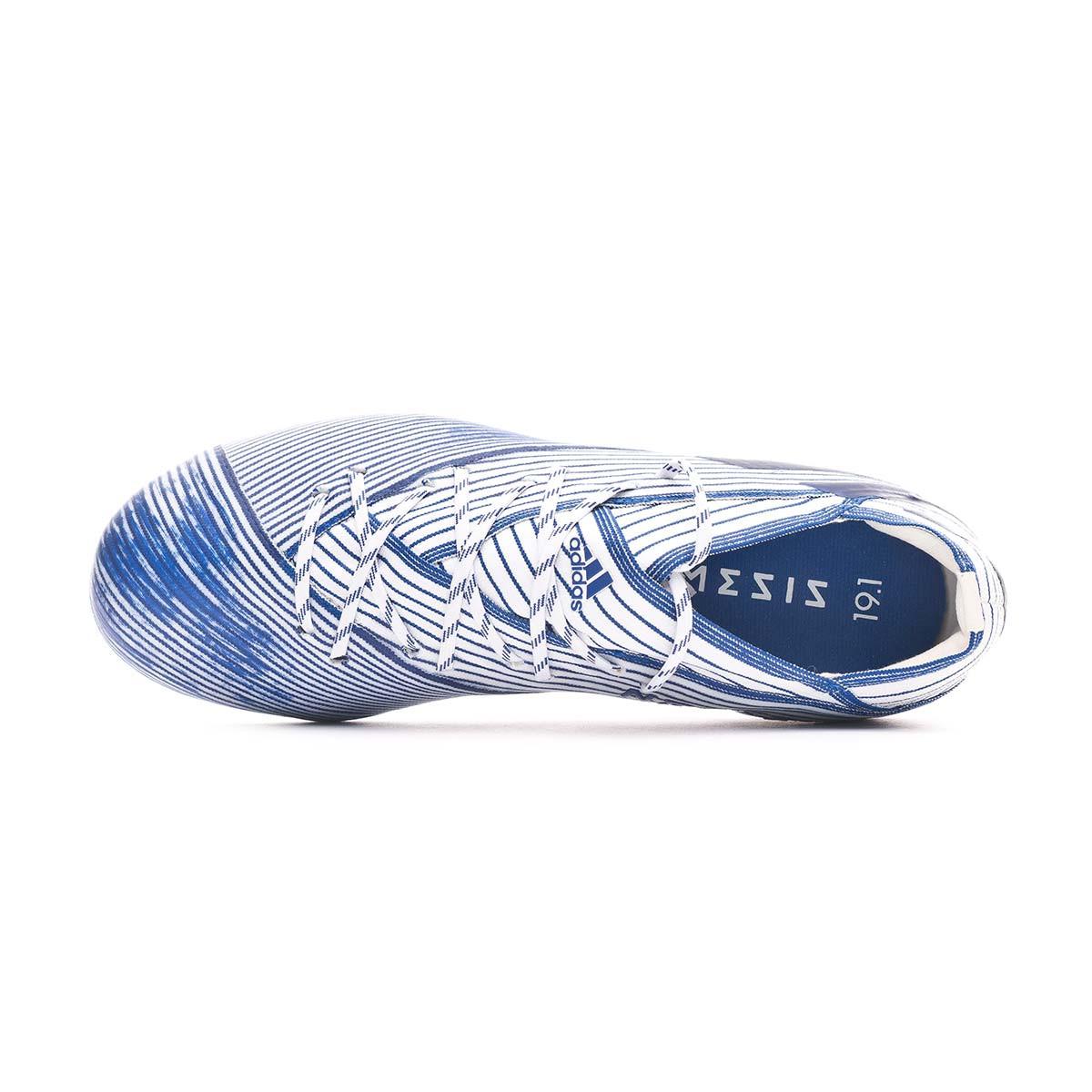 Scarpe adidas Nemeziz 19.1 FG Bambino White Team royal blue