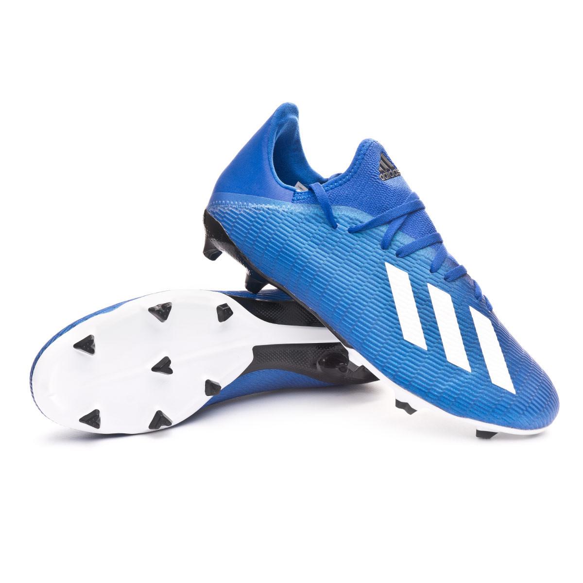 firma Allí Mucho  Football Boots adidas X 19.3 FG Team royal blue-White-Black - Football  store Fútbol Emotion