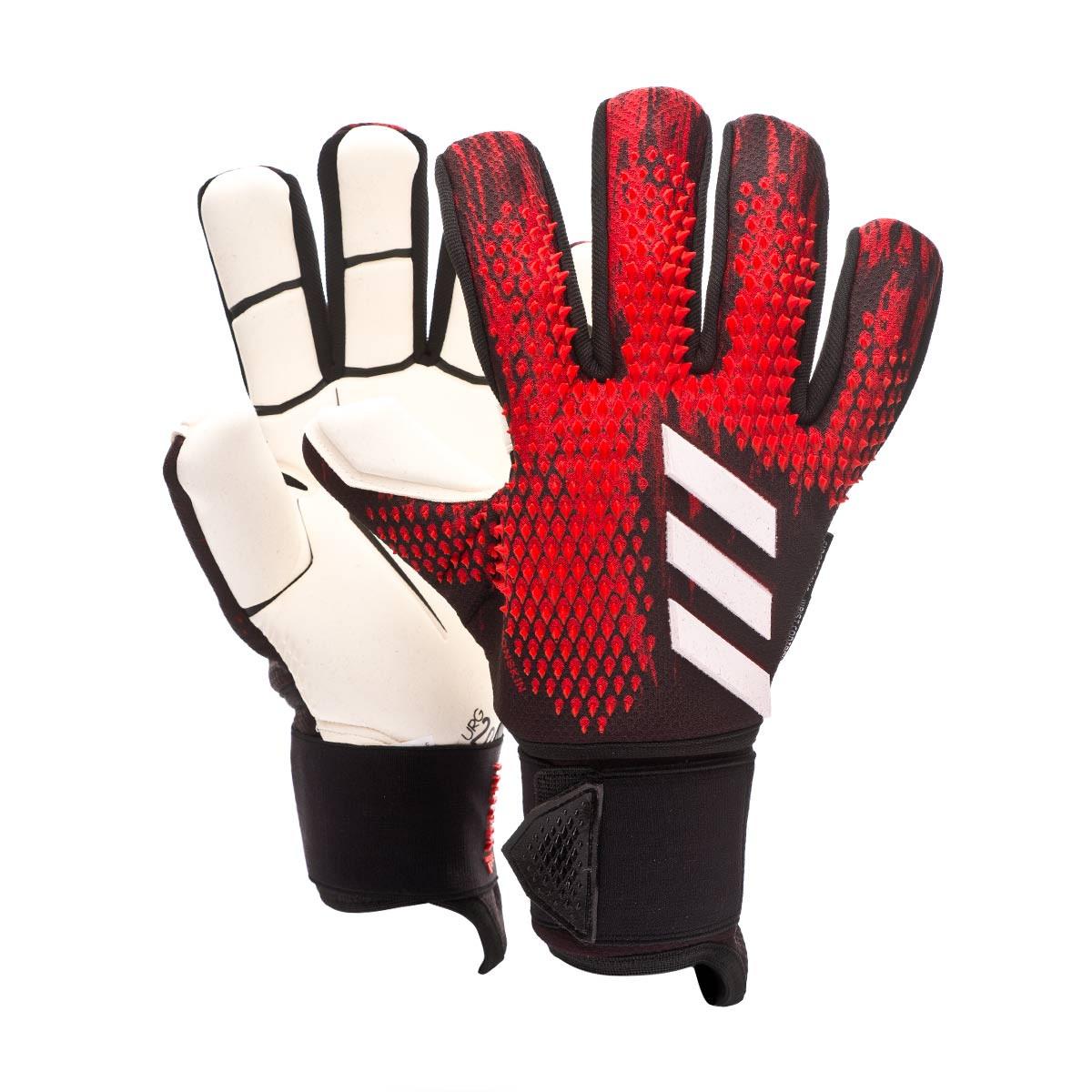 Estadísticas todos los días Crítico  Guante de portero adidas Predator Pro Ultimate Black-Active red - Tienda de  fútbol Fútbol Emotion