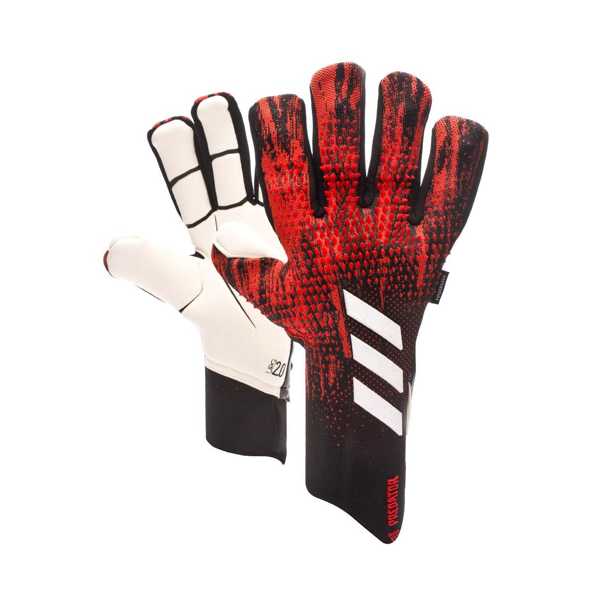 Enderezar Clásico Inmunidad  Guante de portero adidas Predator Pro Fingersave Black-Active red - Tienda  de fútbol Fútbol Emotion