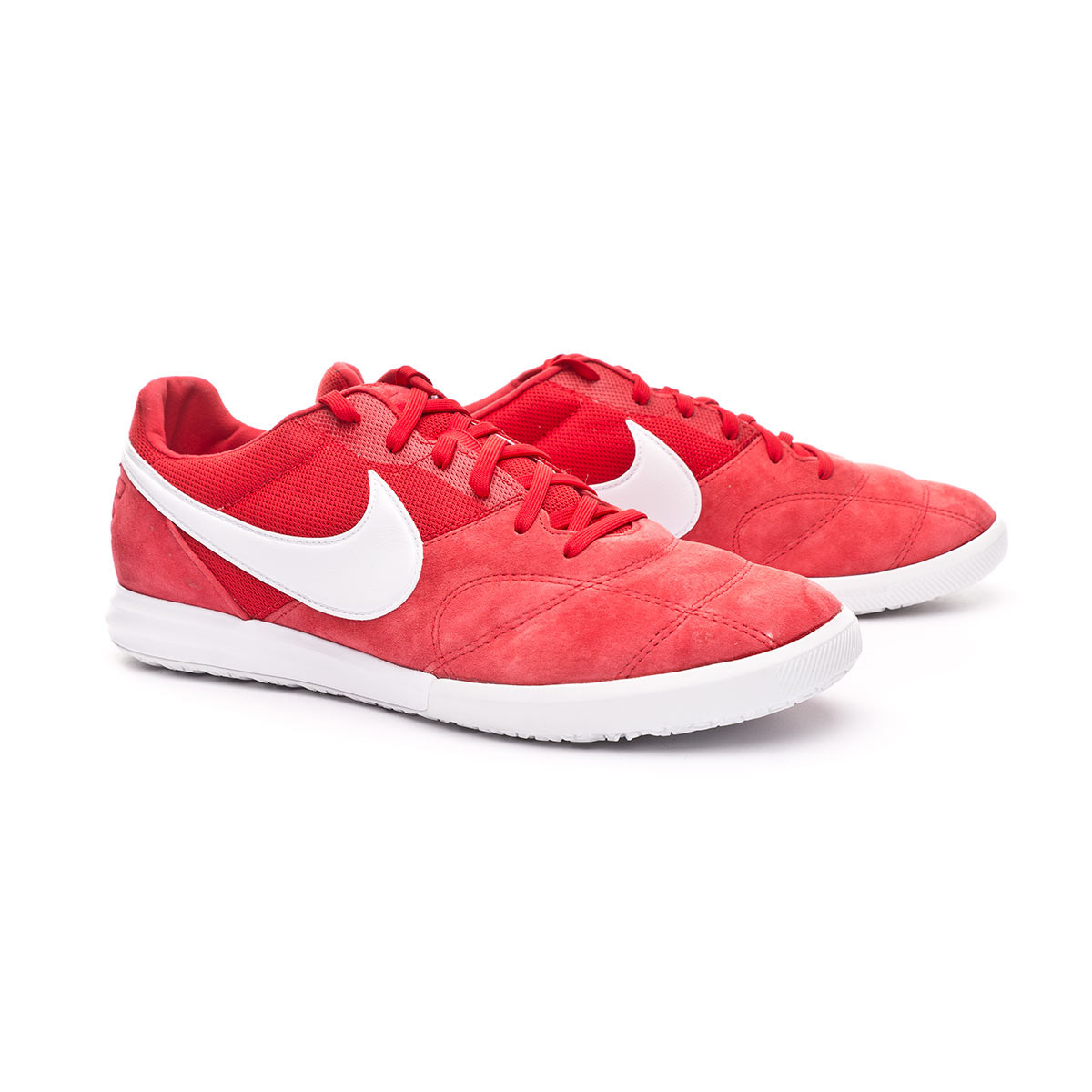 Desear tobillo Peatonal  Futsal Boot Nike Tiempo Premier II Sala IC University red-White - Football  store Fútbol Emotion