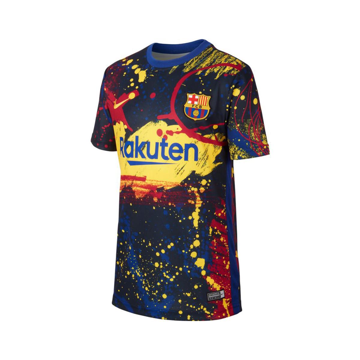 Sueño romano italiano  Jersey Nike FC Barcelona Breathe Pre Match 2019-2020 Niño Dark  obsidian-Deep royal blue - Football store Fútbol Emotion