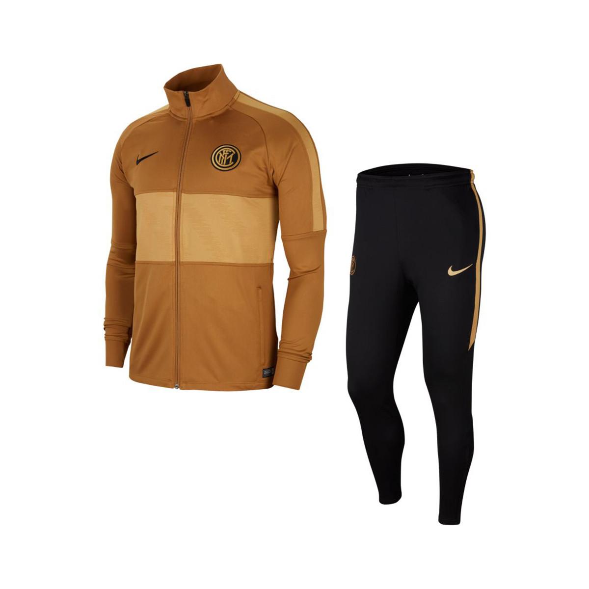 mueble Fusión mañana  Tracksuit Nike Inter de Milão Dry Strike 2019-2020 Muted bronze-Black-Truly  gold - Football store Fútbol Emotion