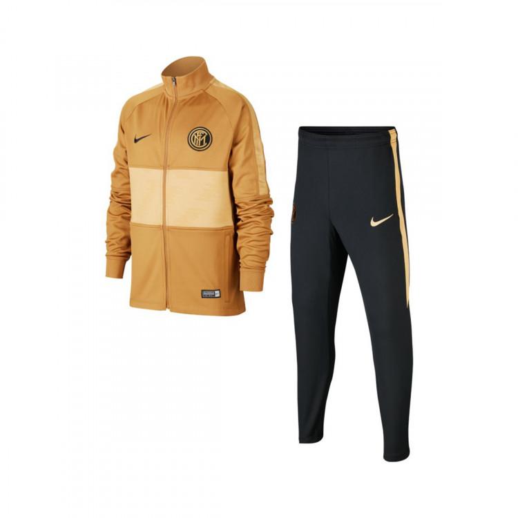beneficioso Bendecir Compulsión  Tracksuit Nike Inter de Milão Dry Strike 2019-2020 Criança Muted  bronze-Black-Truly gold - Football store Fútbol Emotion