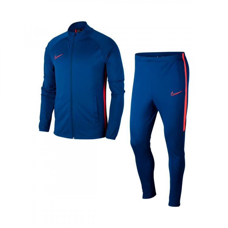 fabricación hábil cupón de descuento real mejor valorado Tracksuit Nike Dri-FIT Academy Valerian blue-Laser crimson ...