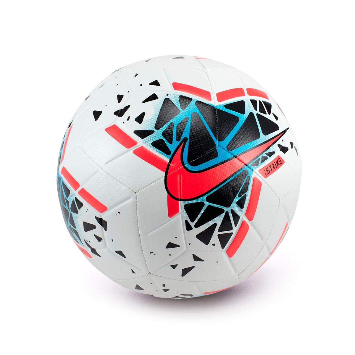 instructor Regaño café  Ball Nike Strike 2019-2020 White-Black-Laser crimson - Football store  Fútbol Emotion