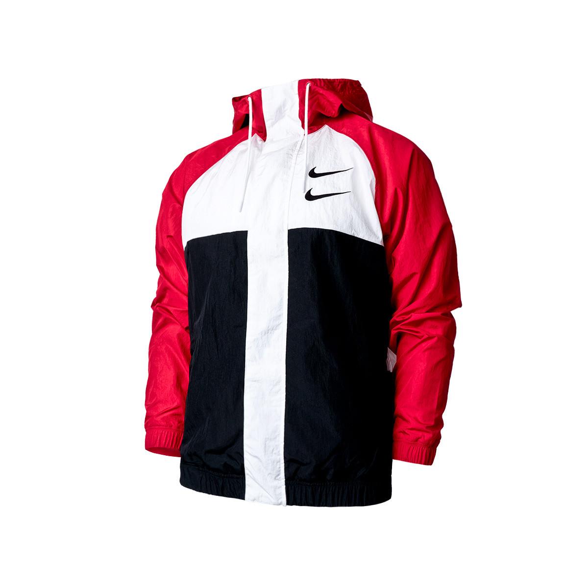 precio canto Panadería  Chaqueta Nike Sportswear Swoosh Hoodie Woven University red-Black - Tienda  de fútbol Fútbol Emotion
