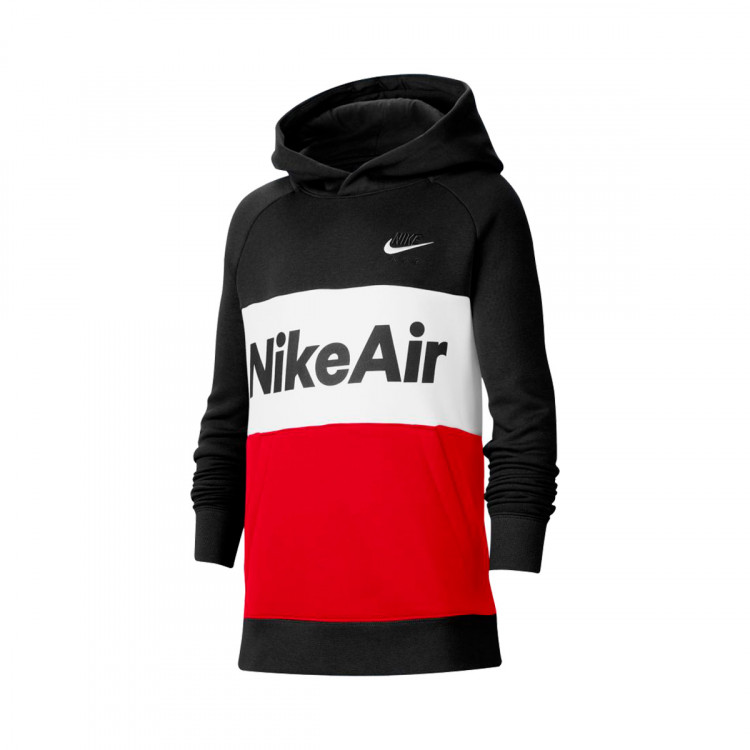 Departamento reserva fluido  Sweatshirt Nike Kids NSW Nike Air Hoodie Black-University red-White -  Football store Fútbol Emotion