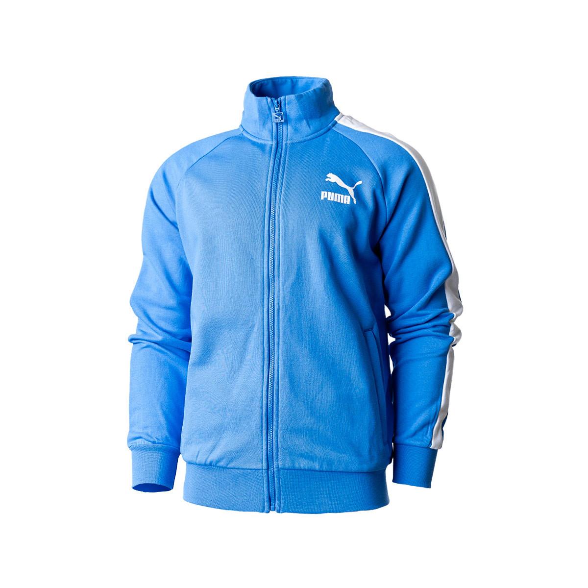 Serpiente Meandro Fusión  Jacket Puma Iconic T7 Track Jacket TR Palace Blue - Football store Fútbol  Emotion