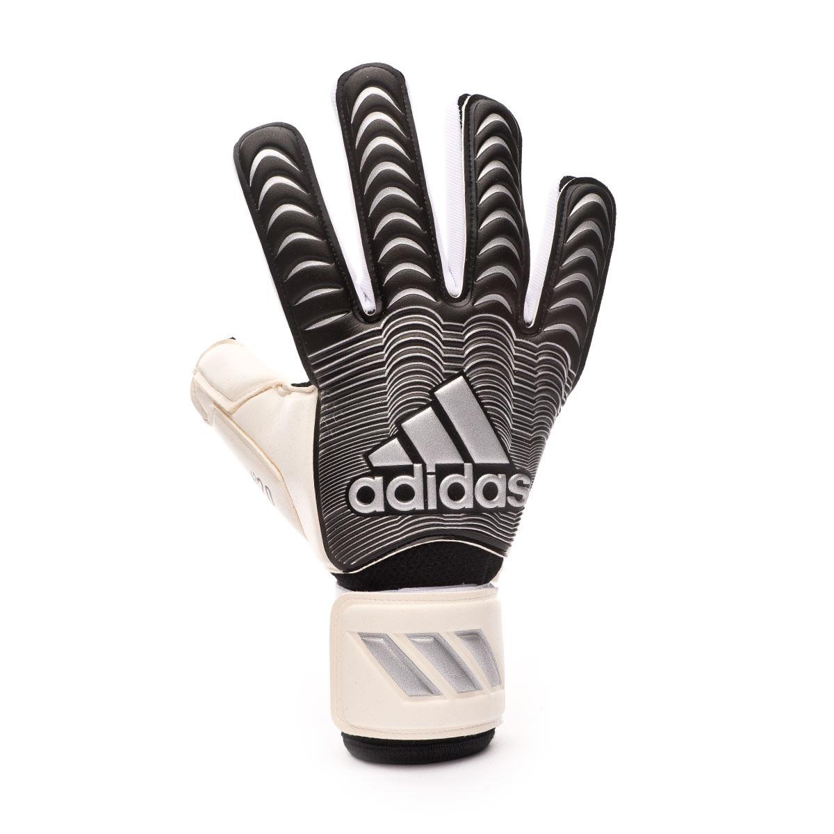 Volver a disparar Traición boicotear  Glove adidas Classic Pro White-Black-Silver metallic - Football store  Fútbol Emotion