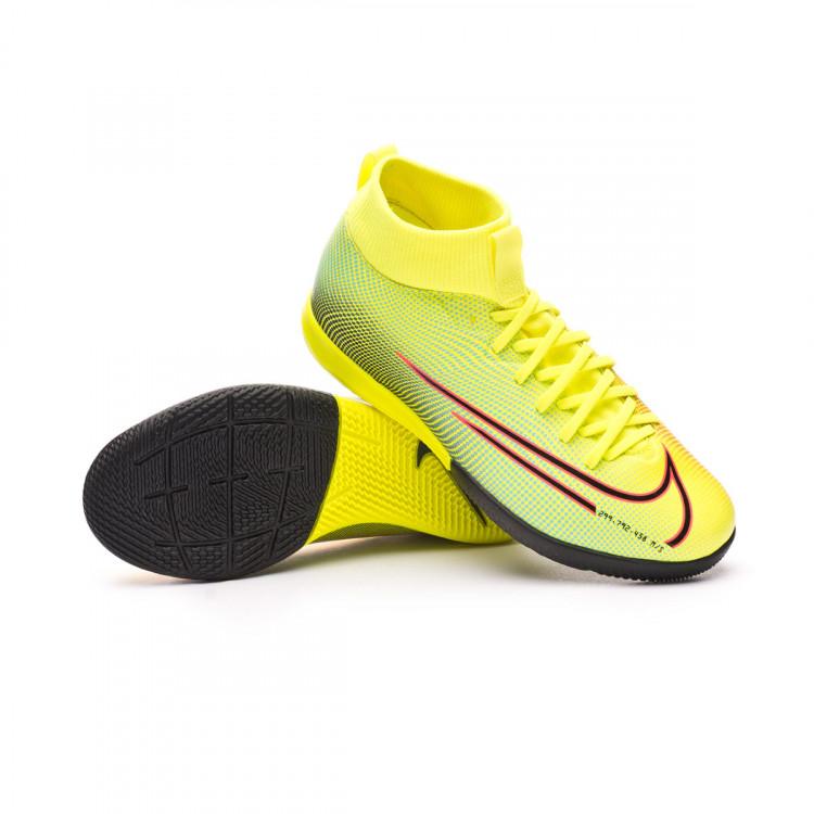 Electrónico factor vóleibol  Futsal Boot Nike Kids Mercurial Superfly VII Academy MDS 2 IC Lemon  venom-Black-Aurora green - Football store Fútbol Emotion