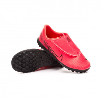 Kids Mercurial Vapor XIII Club Turf PS  Laser crimson-Black