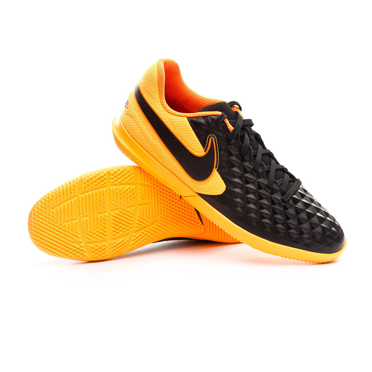buque de vapor Pino consola  Futsal Boot Nike Tiempo Legend VIII Club IC Black-Laser orange-Total orange  - Football store Fútbol Emotion