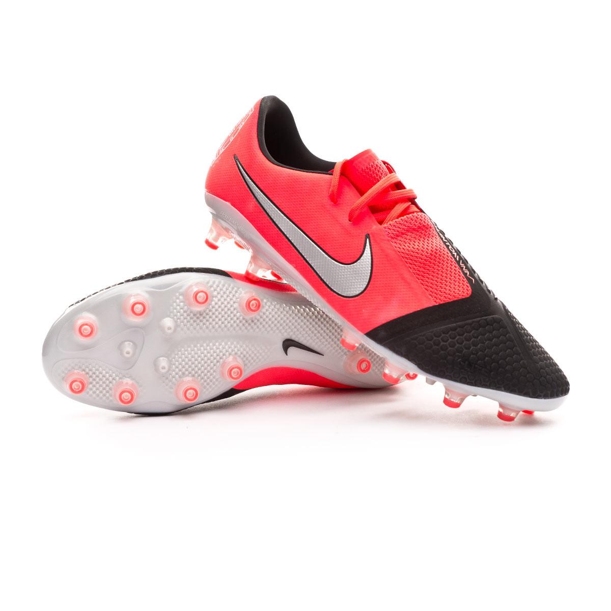 Horizontal Juguetón siesta  Football Boots Nike Phantom Venom Pro AG-PRO Laser crimson-Metallic  silver-Black - Football store Fútbol Emotion