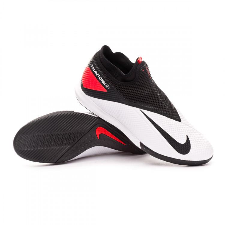 dolor de estómago Retener Mecánico  Futsal Boot Nike Phantom Vision II Academy DF IC White-Black-Laser crimson  - Football store Fútbol Emotion