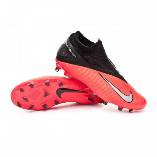 tinción Min electrodo  Bota de fútbol Nike Phantom Vision II Pro DF FG Laser crimson-Metallic  silver-Black - Tienda de fútbol Fútbol Emotion